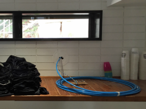 fibre installed in the kitchen