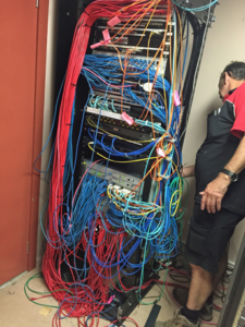 Cables in a mess